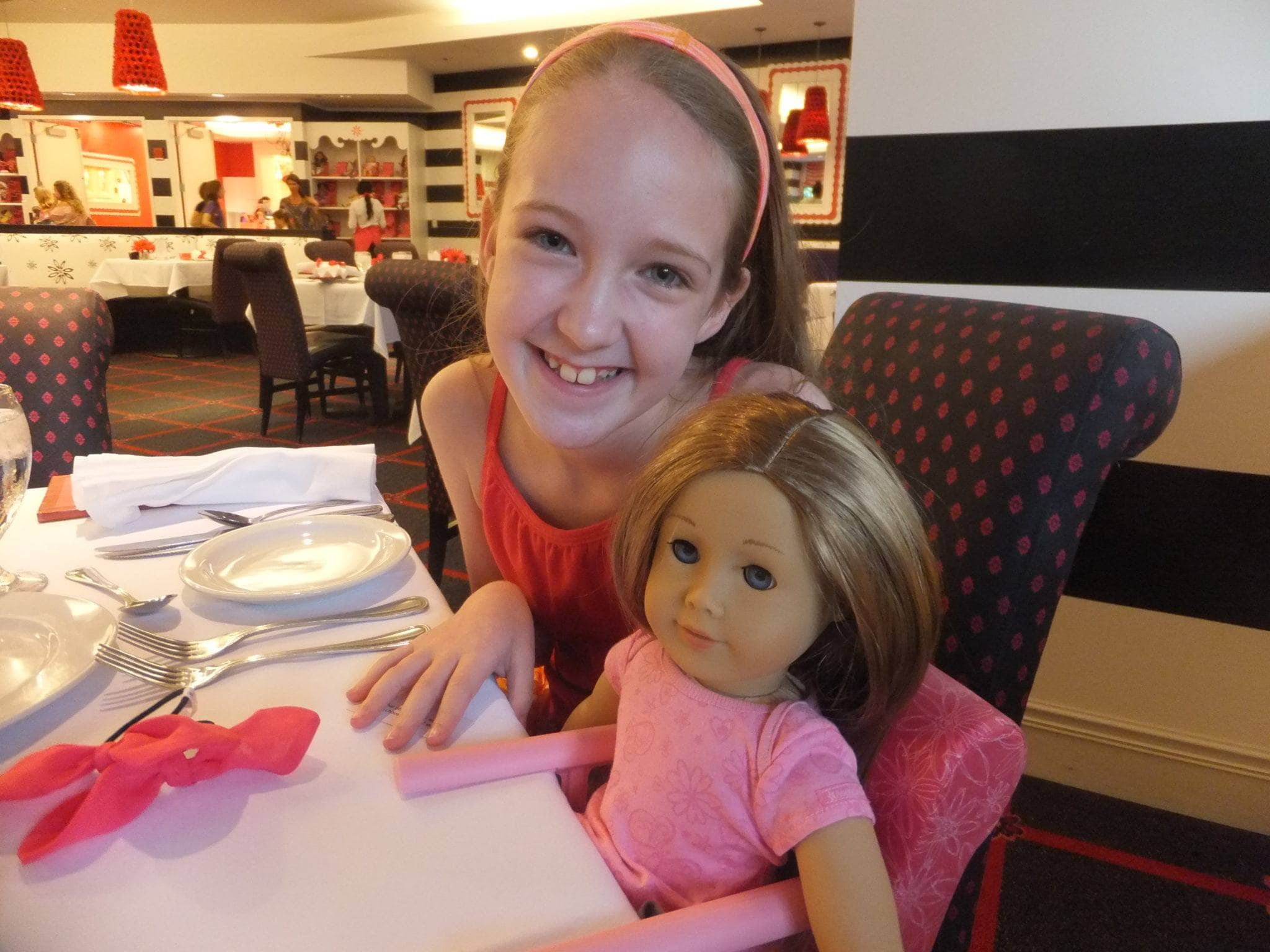 Dining at the American Girl Cafe in Chicago