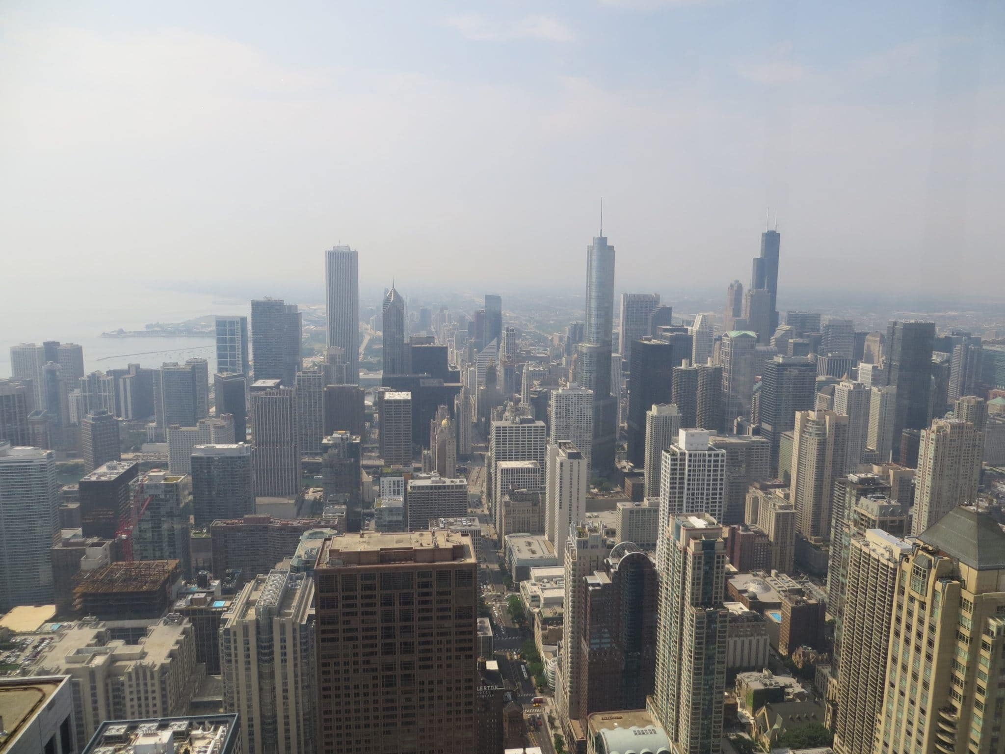 Chicago skyline from John Hancock Observatory