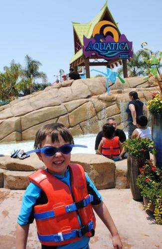 Complimentary life vest at Aquatica