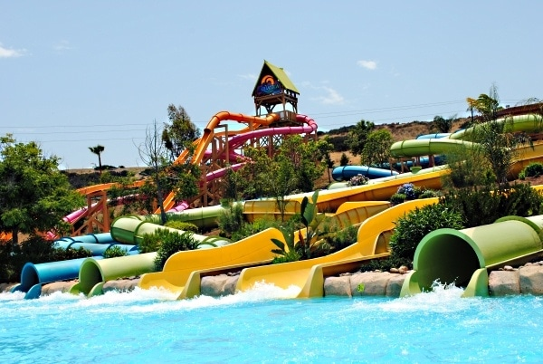 Waterslides at Aquatica San Diego