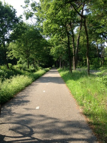 Netherlands bike path