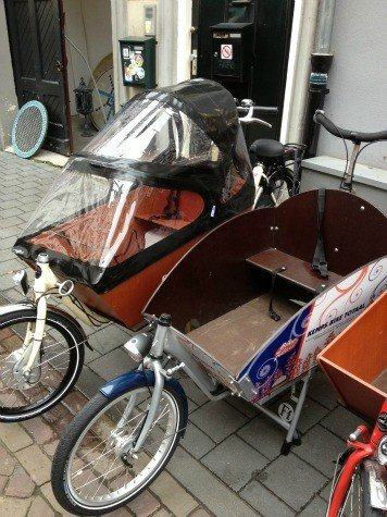 Popular 'Bakfiets' of the Netherlands