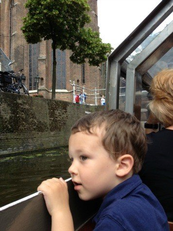Delft, Netherlands canal ride