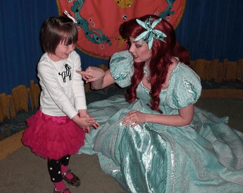 My then-preschooler daughter cavorting with Ariel at Disney's California Adventure