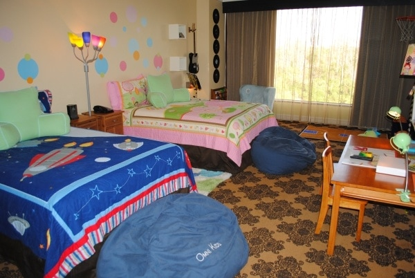 The decked-out Kids Suite at the Omni Houston Hotel