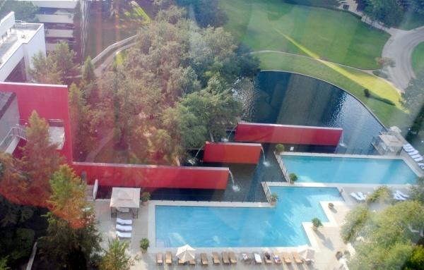 Omni Houston Hotel's chic pool
