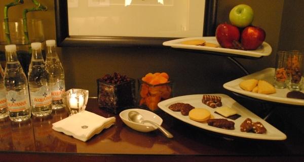 Mokara Spa snacks at the Omni Houston Hotel