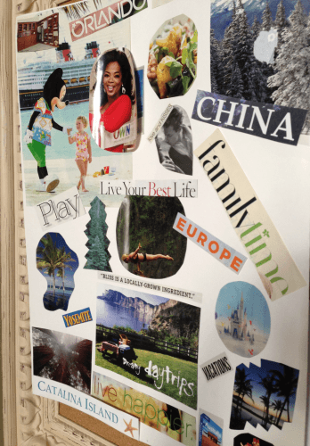 My vision board features a photo of Oprah, of course!