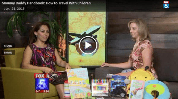 Travel Mamas Founder Colleen Lanin giving tips for traveling with kids on Fox 5 News San Diego