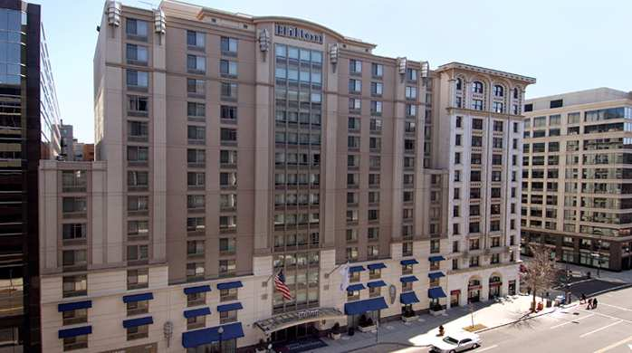 The Hilton Garden Inn located in downtown Washington D.C.