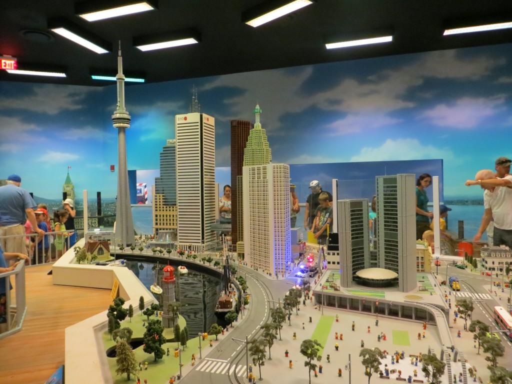 Miniland Toronto skyline at LEGOLAND Discovery Centre Toronto