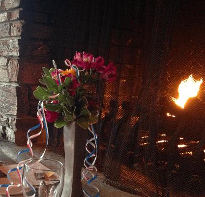Fandango fireside romantic dinner