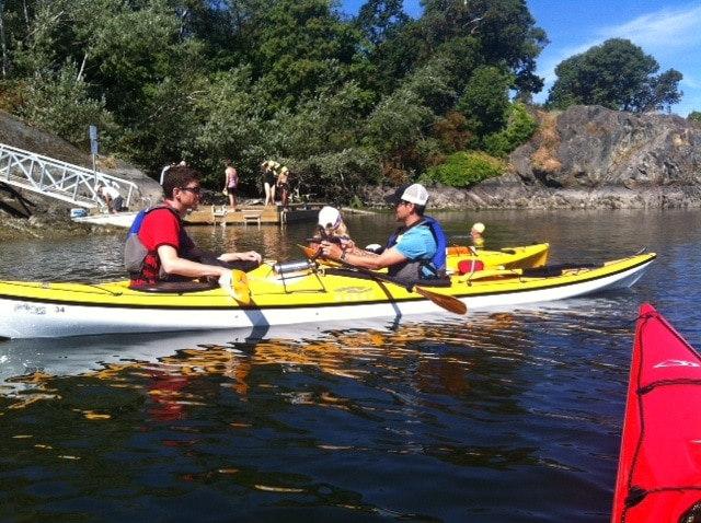 Kayaking lesson near Vancouver Island