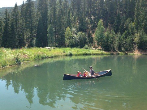 Canoeing at Broadmoor's Ranch at Emerald Valley
