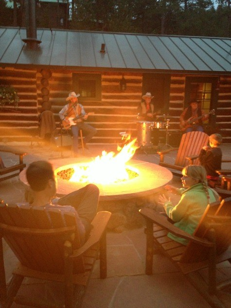 Cowboy tunes by campfire at the Broadmoor's Ranch at Emerald Valley
