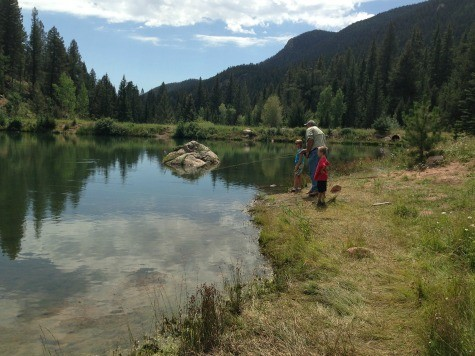 Fly fishing at the Ranch at Emerald Valley in Colorado