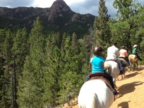Riding horses at The Broadmoor's Ranch at Emerald Valley