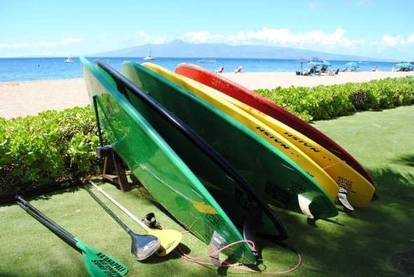 Stand up paddle boards in Maui