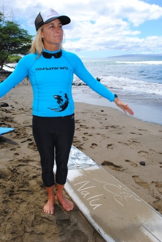 Dustin Tester, Maui Surfer Girls founder and surf instructor