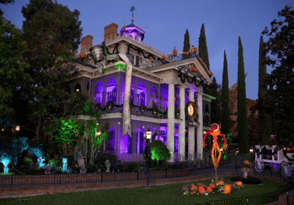"The Haunted Mansion is transformed with a mix of Halloween spookiness and Christmas tradition, Haunted Mansion Holiday, inspired by ""Tim Burton's Nightmare Before Christmas"""