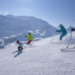 Skiing with Kids in Adelboden, Switzerland