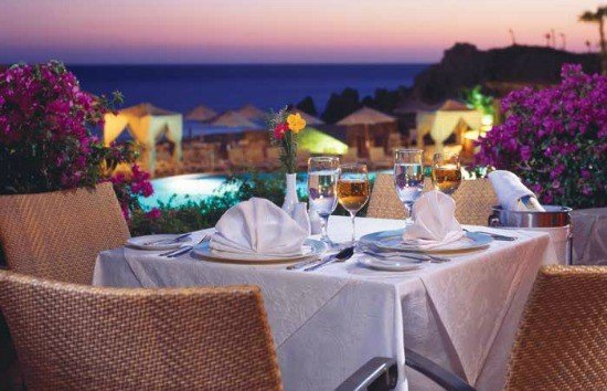 Al fresco dining at Pueblo Bonito Sunset Beach Resort & Spa in Los Cabos, Mexico