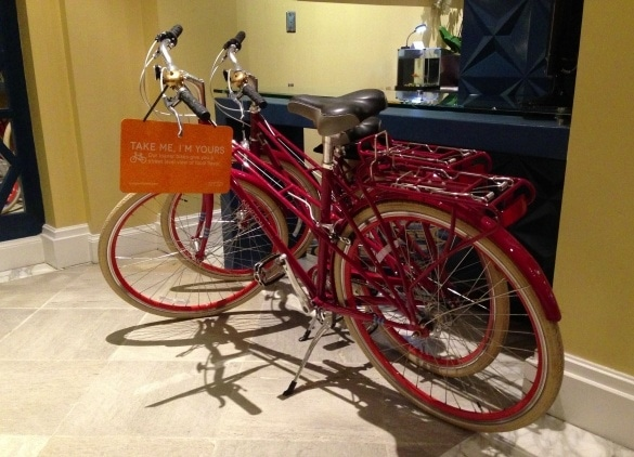 Complimentary bicycles for exploring Seattle at Hotel Monaco