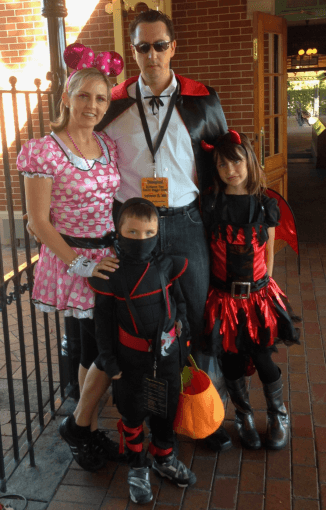All dressed up for Mickey's Halloween Party at Disneyland