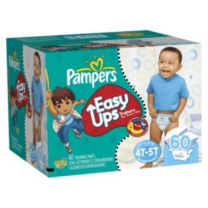 Pack Pampers Easy-ups for potty training travelers