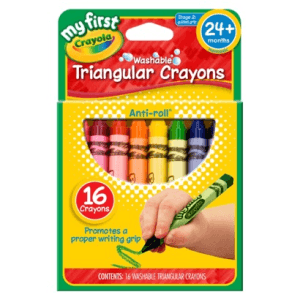 Crayola's triangular crayons don't roll - perfect for travel!