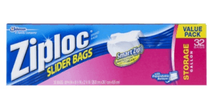 Tuck a few Ziploc Slider Bags into your suitcase