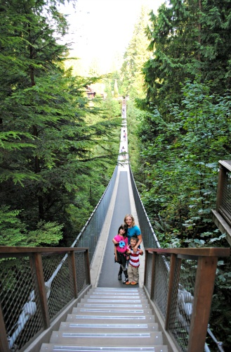Venturing across the Capilano Suspension Bridge