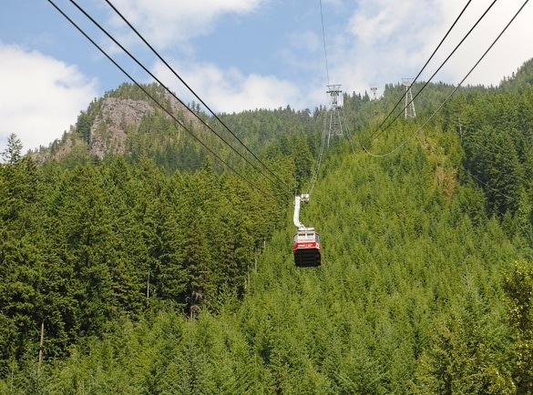 The Super Skyride transports riders to Grouse Mountain