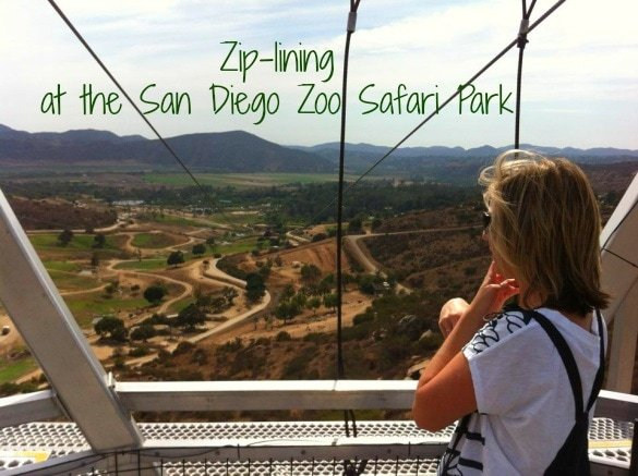 Zip-lining at the San Diego Zoo Safari Park