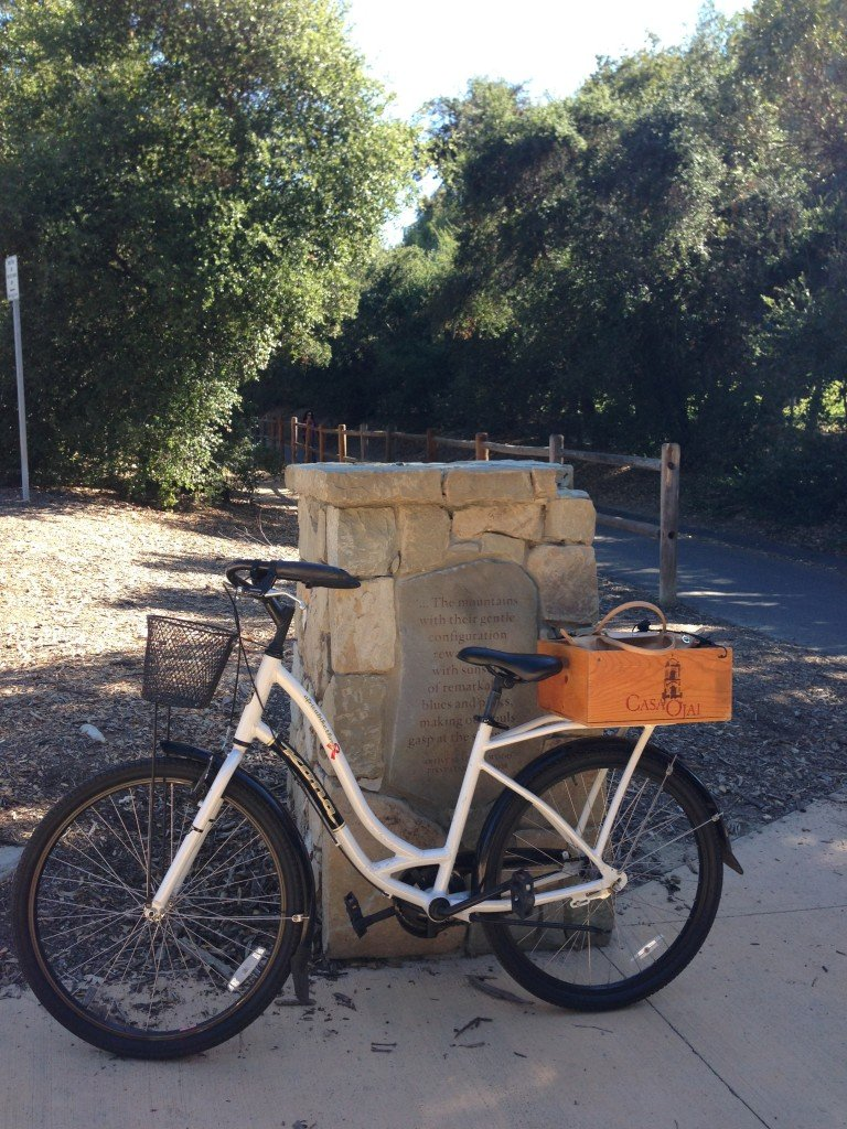 Biking the flat Ojai Valley Trail is a great way to visit the town