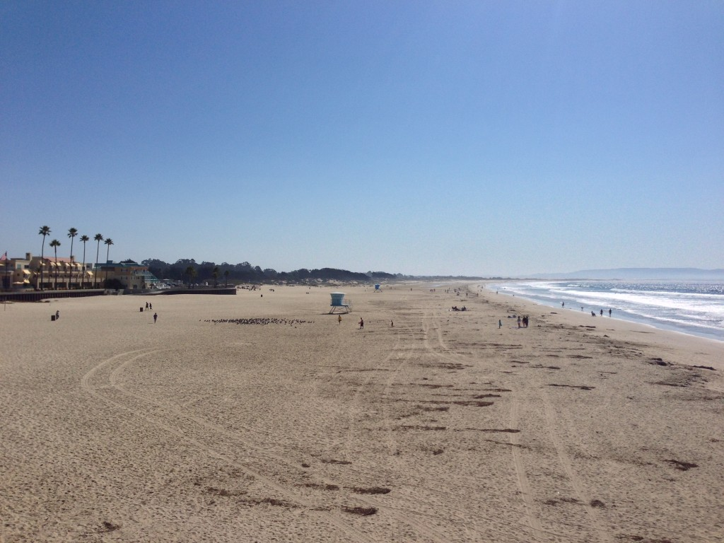 The wide expanse of Pismo Beach