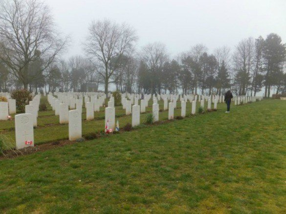 Canadian War Cemetery in Normandy, France