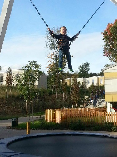 The trampoline was a huge hit at Center Park Bostalee!