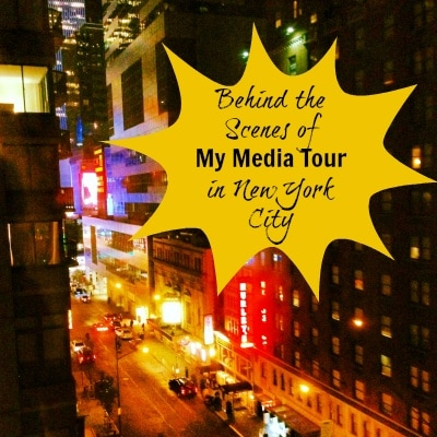 Behind the scenes of my media tour in New York City