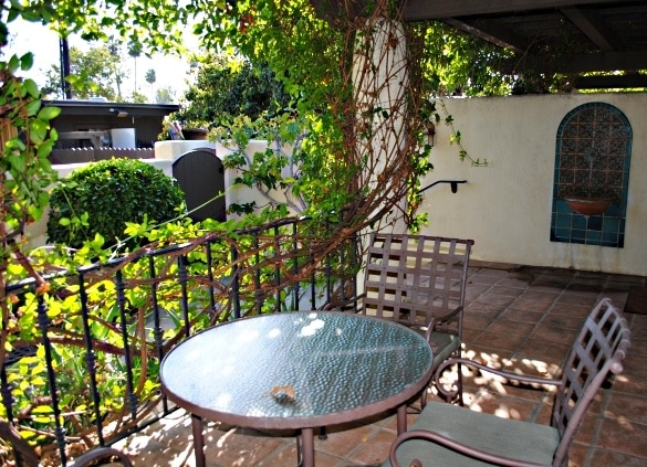 Our private patio at the Oaks at Ojai