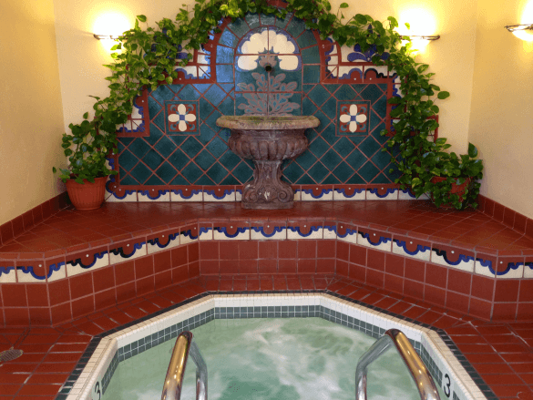 Indoor whirlpool spa at the Oaks at Ojai