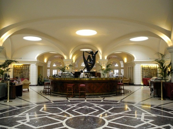 Central lobby area at Hotel Phoenicia