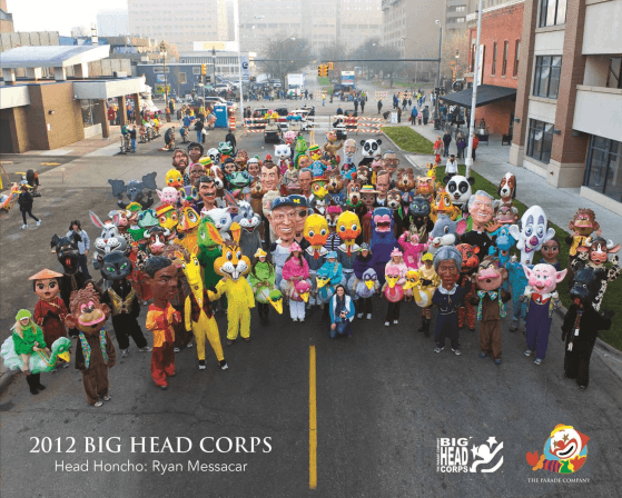 The big head corps in america s thanksgiving parade photo from www