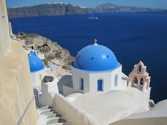 Santorini Oia Blue-domed churches