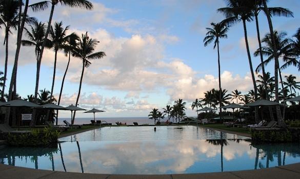 Infinity pool at Travaasa Hana, in Hana, Hawaii