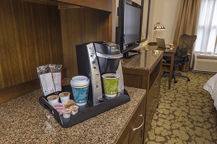 Hilton Garden Inn and Keurig Coffee - Hooray!
