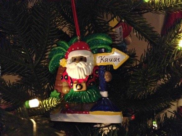 Kauai Christmas tree ornament