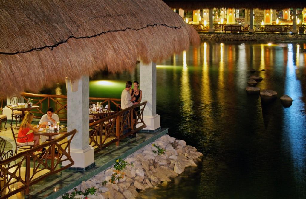 The Grand Palladium Riviera Resort & Spa at night