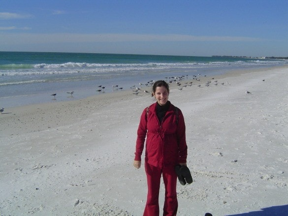 Walking on the beach in Tampa, Florida Credit: N. Wiltrout