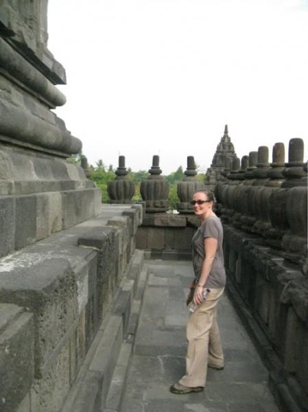 Exploring Prambanan in Yogyakarta, Indonesia (Photo credit: S. Gourlay)